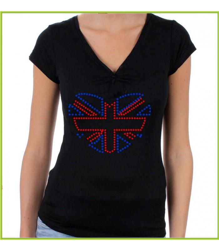 Tee shirt strass english