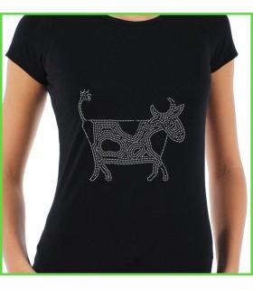 le strass sur un tee shirt, cadeau personnalisé avec strass