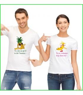 Tee Shirt Duo Ananas Banane