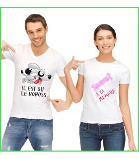 tee shirt original avec un chien et son os