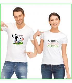 t shirt très rigolo avec vache et meuh