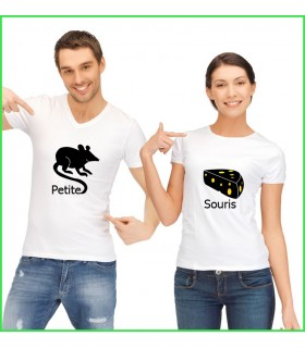 tee shirt en duo pour monsieur et pour madame petite souris