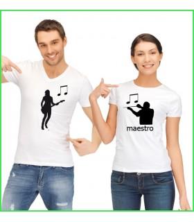 tee shirt différent pour l'homme et pour la femme maestro