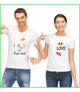 des tee shirt rigolos et originaux pour homme et pour femme avec des poissons clown