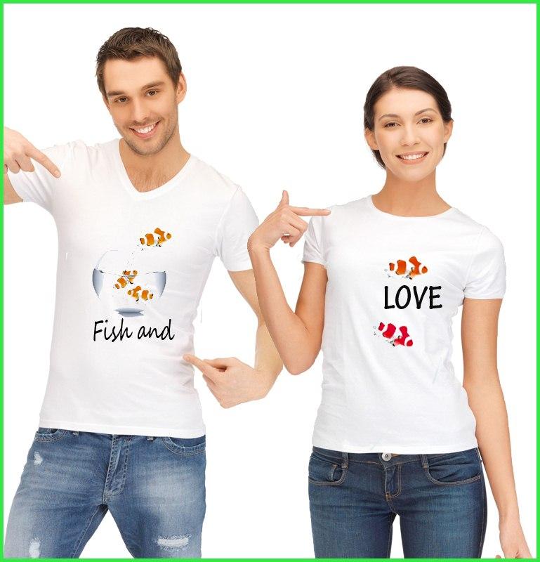 Tee Shirt Duo Fish & Love