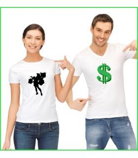 tee shirt original pour les couples qui adorent le shoping