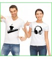 T shirt duo couple DJ