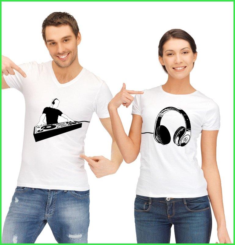 T shirt duo couple DJ