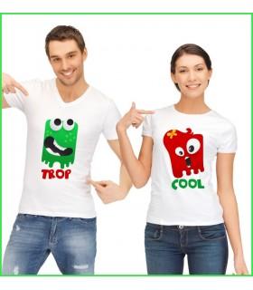 de la couleur et des personnages pour faire rire sur tee shirt duo