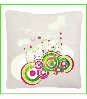 Joli coussin blanc tendance et design au format 40x40, couleur blanc