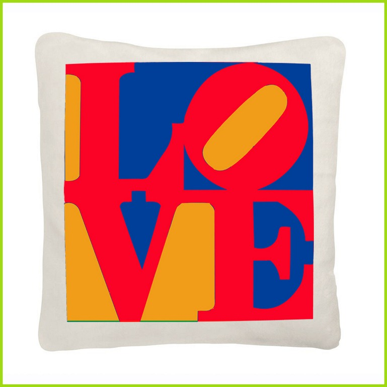 coussin I love you tendance