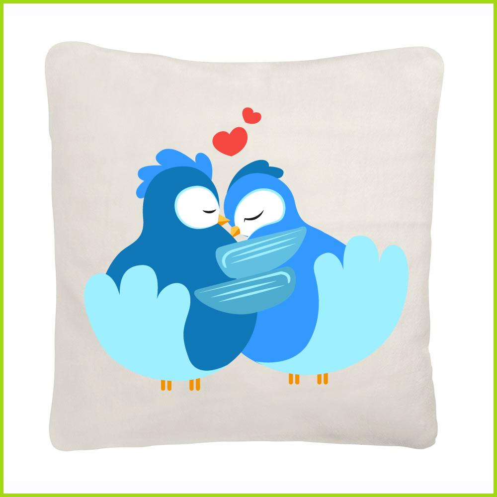 Coussin tendance birds in love