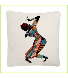 Coussin design femme africaine