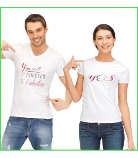 tee shirt pour les couples qui s'aiment