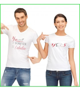 T shirt couple Saint valentin