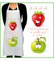 Tablier de cuisine motif fraise pomme