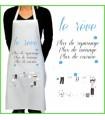 petit message rigolo sur un tablier de cuisine pour femme, cadeau rigolo