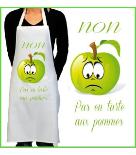 tablier de cuisine tarte pommes
