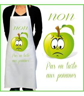 Tablier de cuisine tarte pommes - Tablier de cuisine original ...