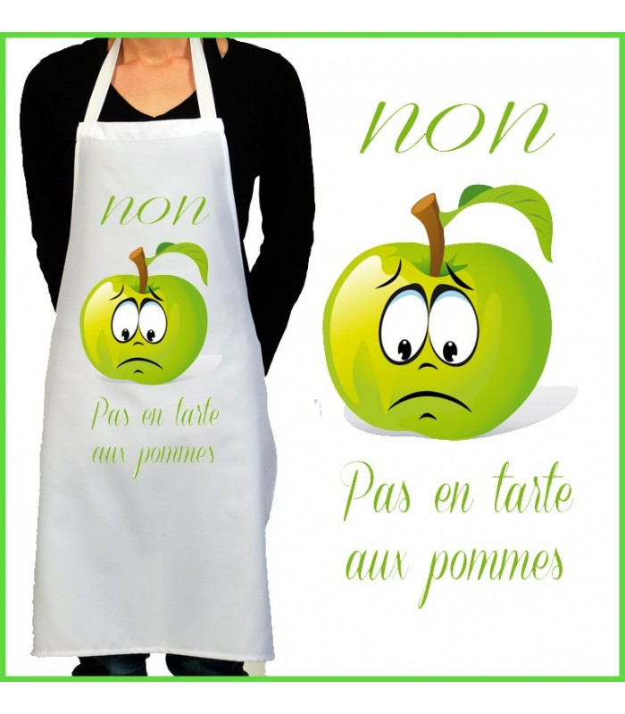 Tablier de cuisine tarte pommes - Tablier de cuisine rigolo ...