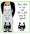 cadeau pour femme, tablier de cuisine rigolo avec texte tête à tete