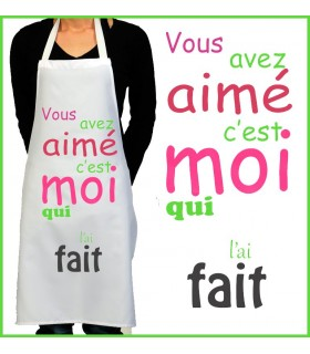 Tablier de cuisine pour femme ou homme personnalis ou - Tablier cuisine rigolo ...