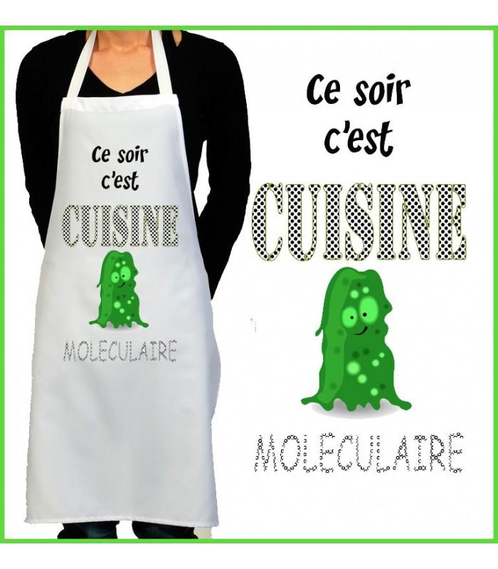 Tablier de cuisine rigolo mol culaire - Ustensiles de cuisine rigolo ...