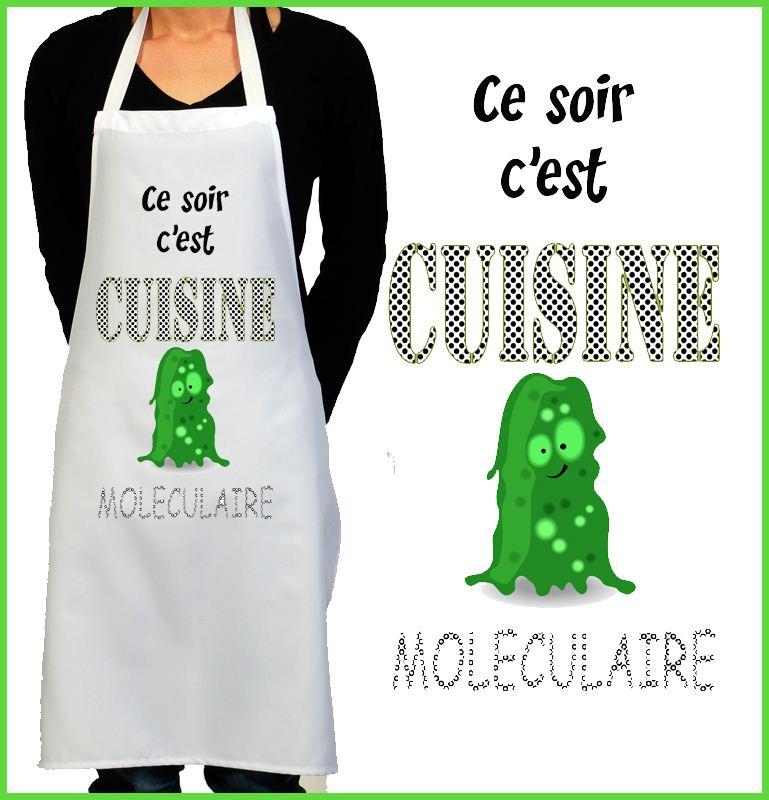 Tablier cuisine rigolo cuisine mol culaire - Tablier de cuisine rigolo ...