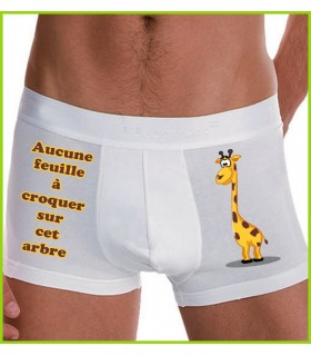 Boxer amusant homme girafe