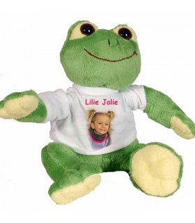 grenouille peluche avec photo