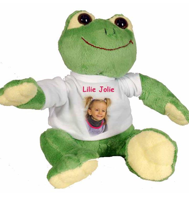 peluche grenouille personnalisée