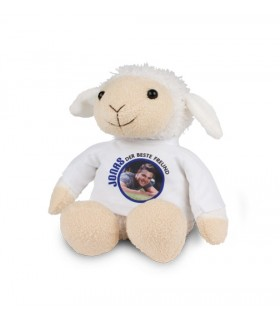 mouton en peluche avec photo