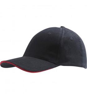 broderie personnalisée sur une casquette rouge et noire