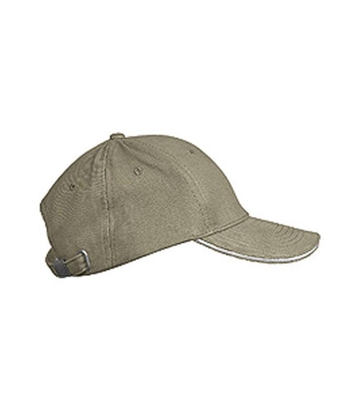 personnalisation de casquette grise liseré gris clair