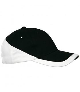 Casquette brodée noire et blanche
