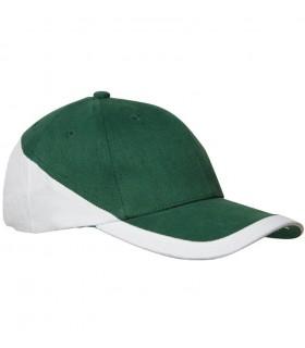 broderie personnalisée sur casquette verte
