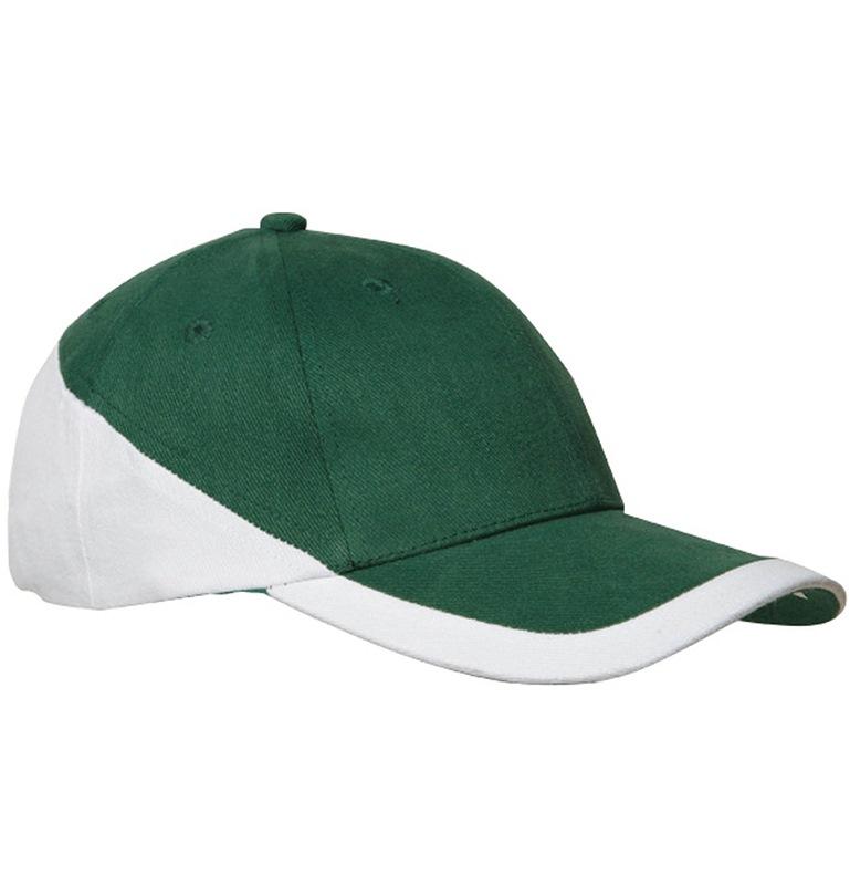 Casquette brodée verte et blanche