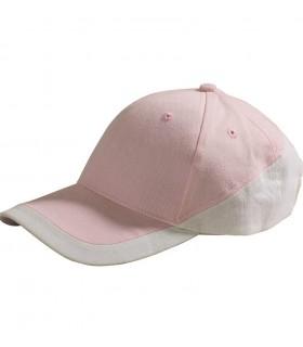 broderie personnalisée sur casquette rose