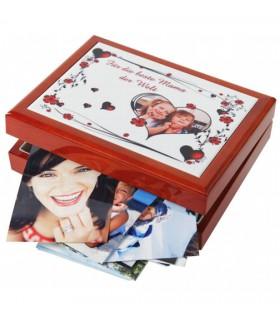 boîte à bijoux personnalisée avec une photo