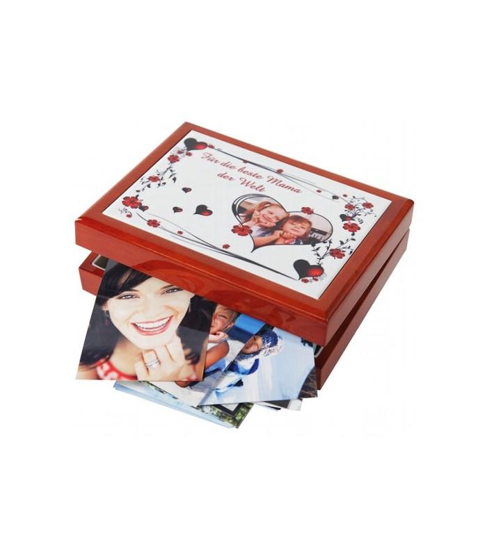 boîte à bijoux photo personnalisée