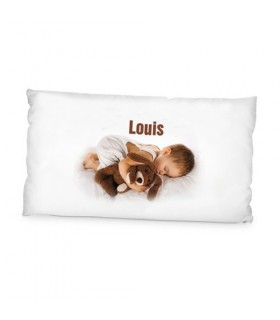Photo sur coussin long
