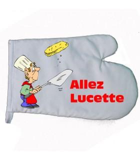 gant de cuisine personnalisé avec une photo