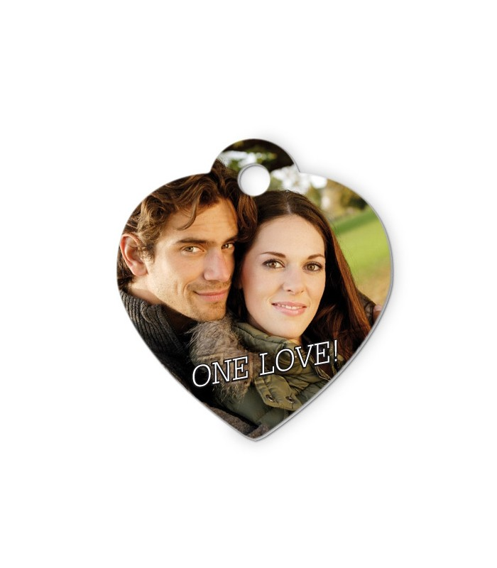 pendentif coeur personnalisé avec une photo
