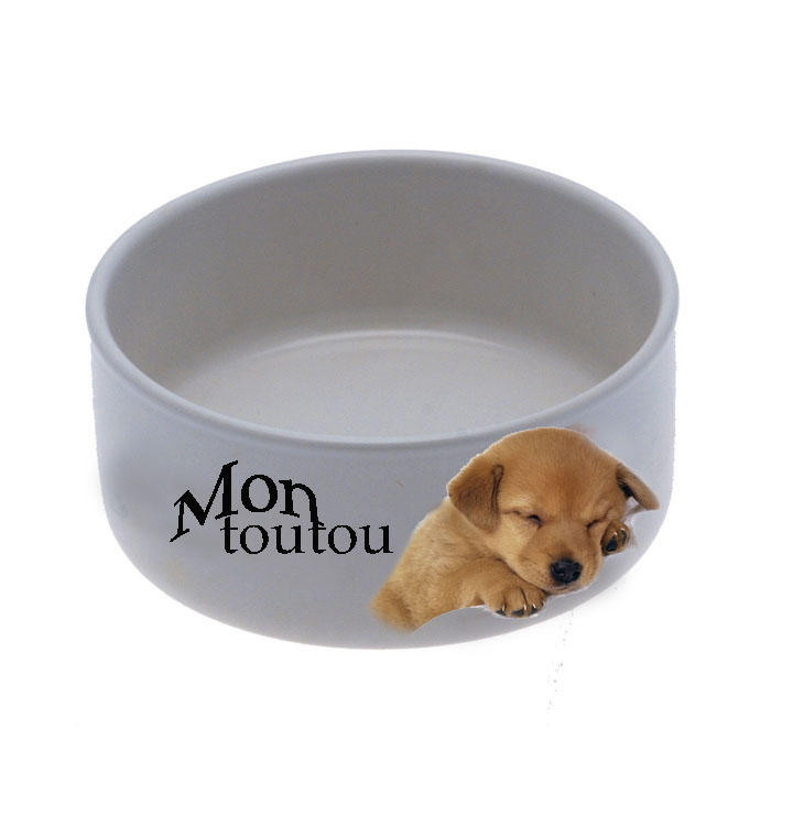 gamelle photo personnalis e pour chien et chat cadeau pour animal. Black Bedroom Furniture Sets. Home Design Ideas