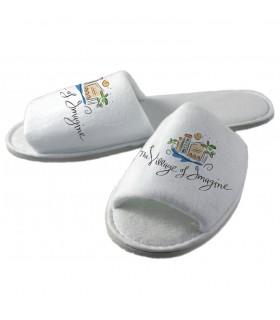 chaussons personnalisés avec une photo
