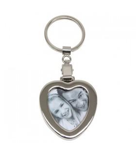 porte clé alu coeur personnalisé avec une photo