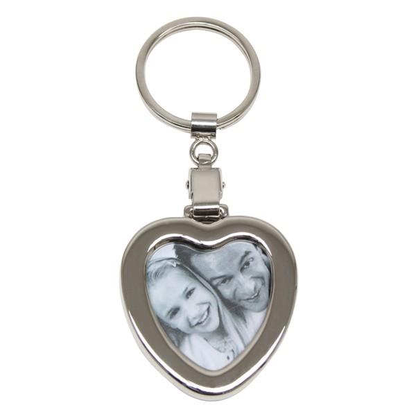 Porte clé alu coeur personnalisé