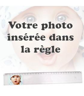 règle d'écolier personnalisée avec une photo