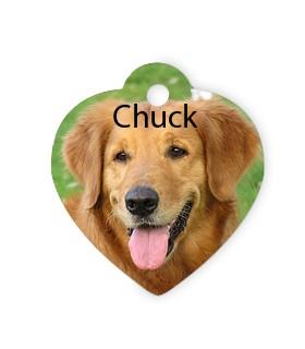 pendentif coeur personnalisé avec une photo chien chat