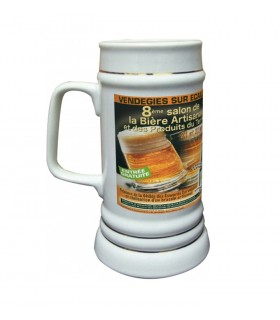chope bière personnalisée avec photo